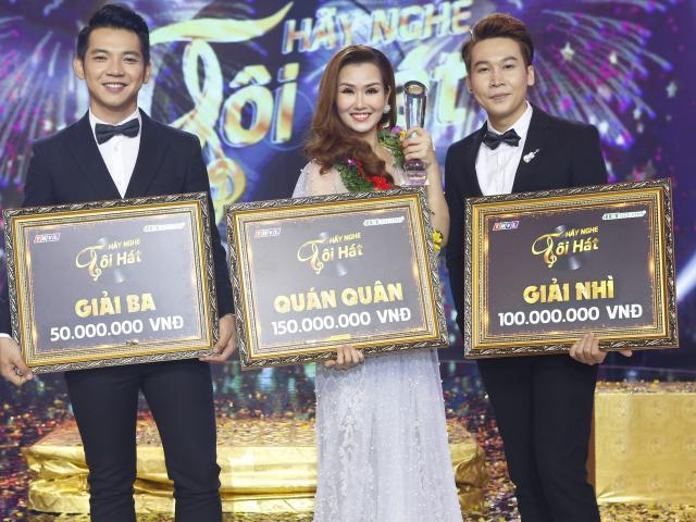 """Võ Hạ Trâm đăng quang """"Hãy nghe tôi hát"""", chia 50 triệu đồng cho Mai Quốc Việt"""