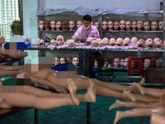Bên trong nhà máy búp bê tình dục TQ bán cho toàn thế giới