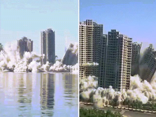 """Đánh sập 4 tòa nhà tại thị trấn """"ma"""" TQ trong vòng 15 giây"""