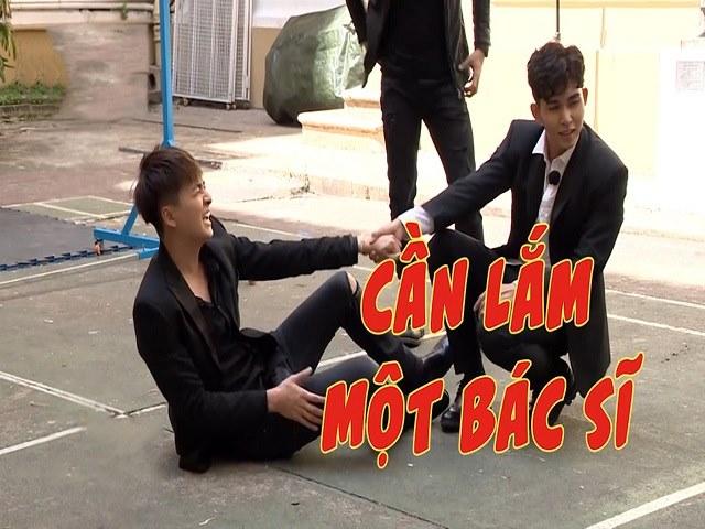 Ngô Kiến Huy bị đụng chạm chỗ nhạy cảm trong tập 1 Running man phiên bản Việt