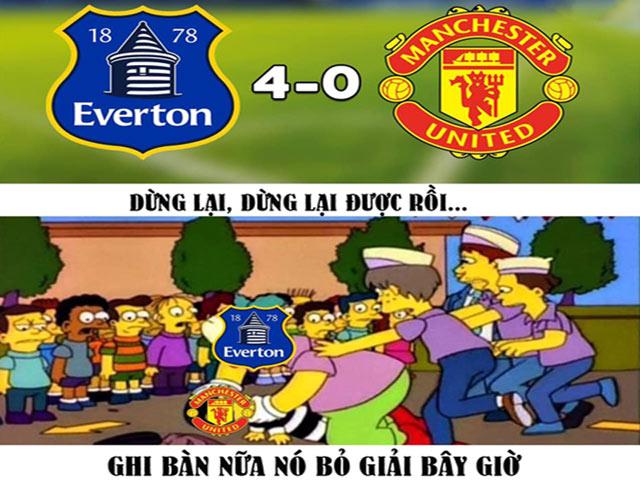 Thua tan nát trước Everton, MU đang xa dần top 4