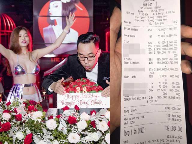 Tiệc sinh nhật có Hà Hồ, Mr. Đàm đến dự gây sốc với hóa đơn 1,3 tỷ