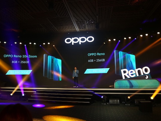 TRỰC TIẾP: Siêu phẩm Oppo Reno chính thức trình làng, giá từ 12,99 triệu đồng