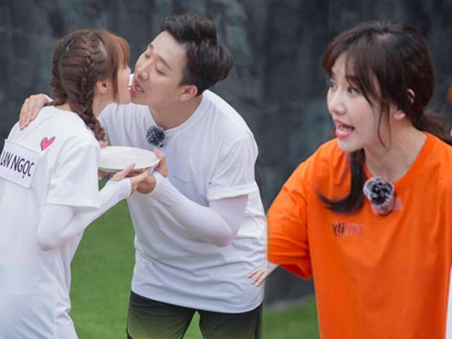 Phản ứng của Hari Won khi thấy Trấn Thành tình tứ Lan Ngọc trước mặt