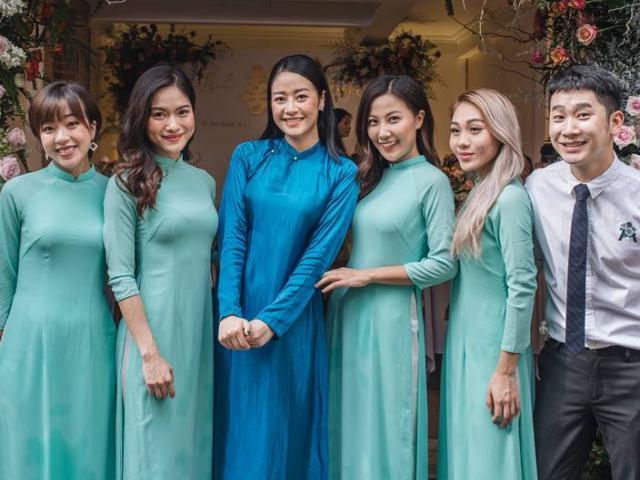 Dàn bê tráp toàn trai xinh gái đẹp VTV trong lễ ăn hỏi MC Phí Linh