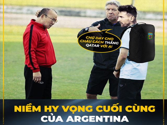 """Messi """"cầu cứu"""" HLV Park Hang Seo hiến kế để đánh bại Qatar"""