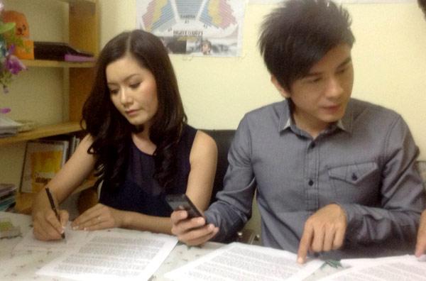 Đan Trương và vợ