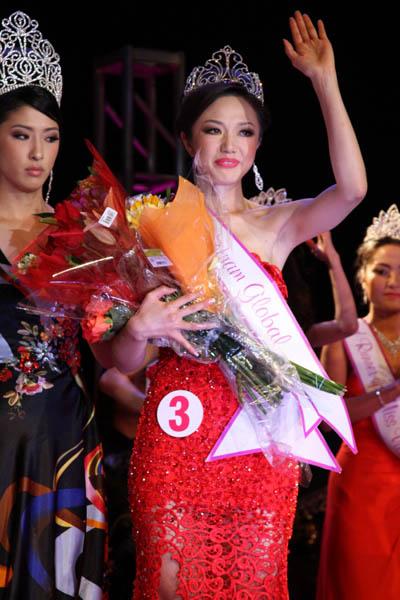 Hirao Yuka gốc Việt đến từ Nhật Bản đã giành chiến thắng với danh hiệu Hoa hậu Việt Nam Toàn cầu 2013