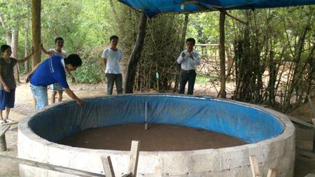 """""""Sới"""" gà, nơi gần 30 đối tượng sát phạt nhau ở xã Hải Vân, huyện Như Thanh, Thanh Hóa."""