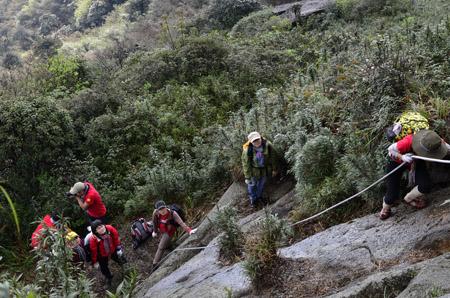 Một đoạn đường đi lên đỉnh Fansipan. Ảnh phuot.vn