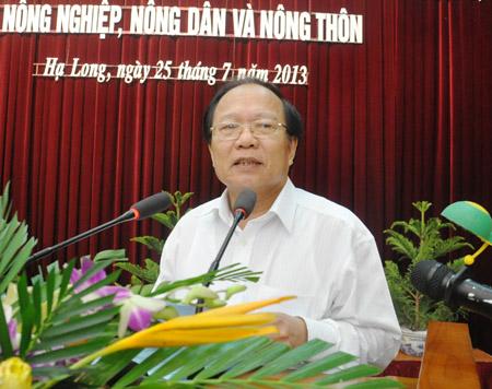 Bộ Trưởng Hoàng Tuấn Anh đánh giá cao kết quả thực hiện nông nghiệp, nông thôn của Quảng Ninh.