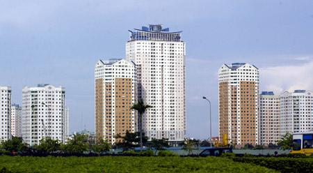 Tỷ lệ nợ phải trả trên tổng nguồn vốn của Vinaconex là 81,7%  (ảnh chụp khu đô thị Trung Hòa - Nhân Chính do Vinaconex làm chủ đầu tư). Huy Hùng