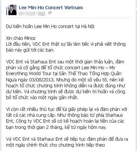 VDC xin lỗi trên fanpage chương trình