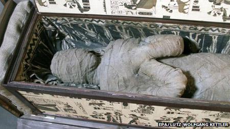 Xác ướp Ai Cập được bao bọc mà cậu bé tìm thấy