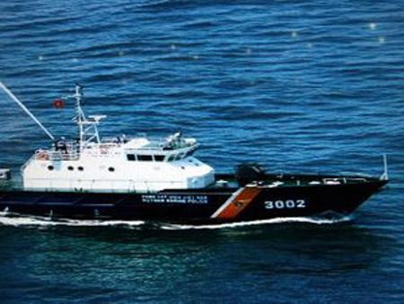 Một chiếc tàu tuần tra của cảnh sát biển Việt Nam.