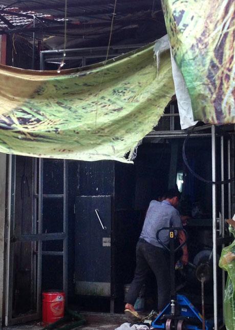 Xưởng đá gia đình anh Phương, nơi xảy ra vụ nổ.