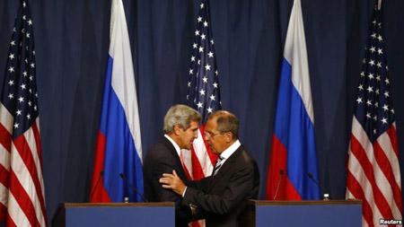 Ngoại trưởng Mỹ, Nga tại họp báo sau khi đạt được thỏa thuận về Syria.
