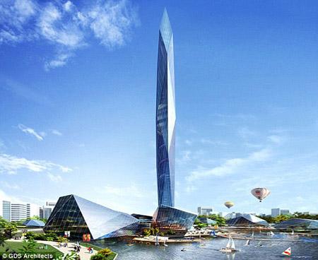 Hình ảnh tòa tháp Infinity.