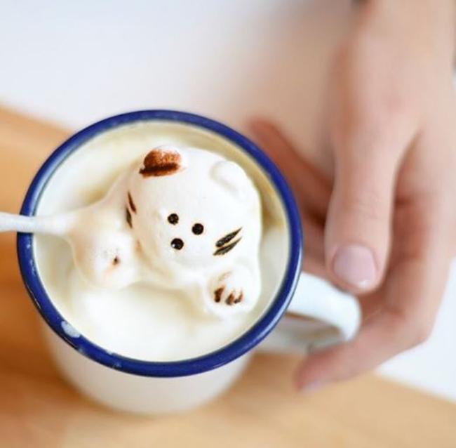 nhung ly ca phe latte tro thanh tac pham nghe thuat 3d tuyet dep hinh anh 5