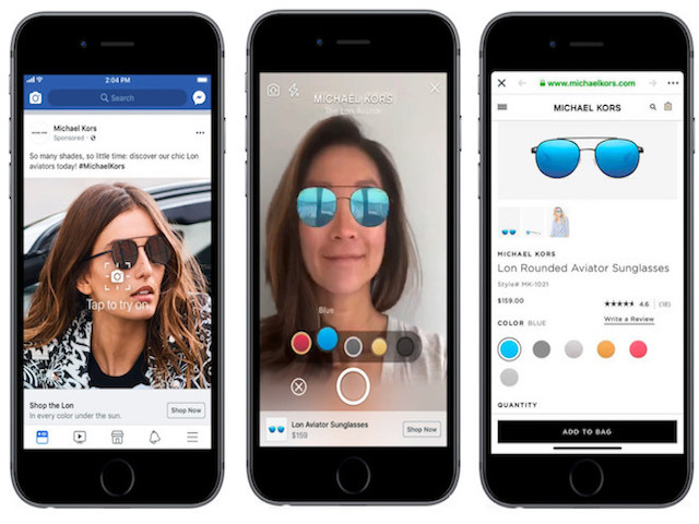 Công nghệ AR sẽ biến Facebook thành phòng thử đồ tại gia