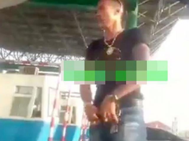 Công an thông tin vụ nam thanh niên vạch quần ở trạm BOT Nam Định