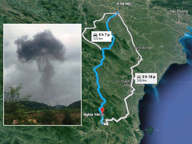 Thông tin chính thức vụ máy bay quân sự Su-22 rơi ở Nghệ An