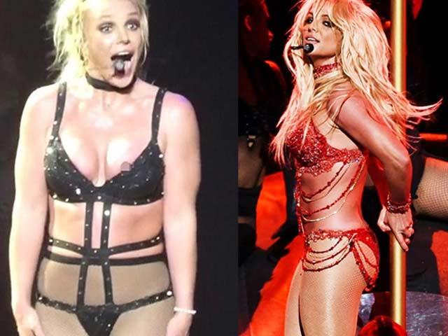 Đỏ mặt vì đồ diễn nóng bỏng như nội y của Britney Spears