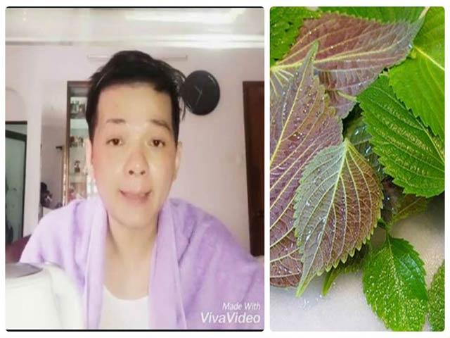 Nam ca sỹ Vũ Hà chia sẻ cách da trắng hồng bằng 10 nghìn đồng lá tía tô