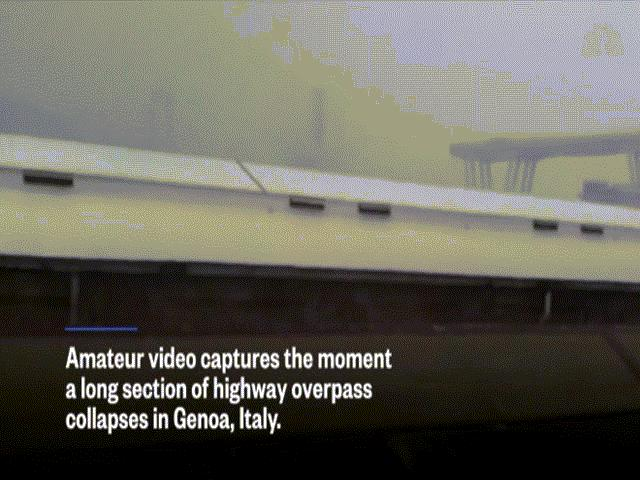 """Ý: Cảnh sập cầu cao tốc """"như tận thế"""" khiến hàng chục người thiệt mạng"""
