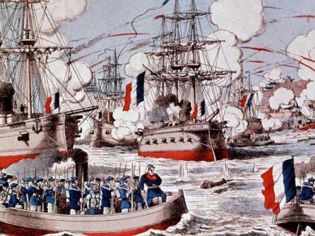 """Hạm đội hùng hậu TQ bị hải quân Pháp """"bắt nạt"""" như thế nào?"""