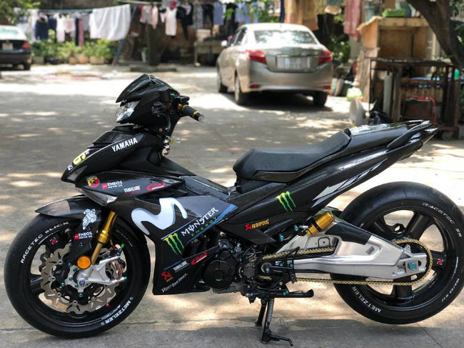 can canh 2019 yamaha exciter do carbon cuc chat cua dan choi ha thanh hinh anh 1