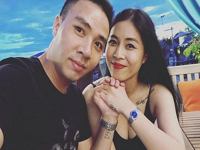 Tình tứ bên chồng trẻ nhưng MC Hoàng Linh lại gây tò mò với hình xăm ở vai