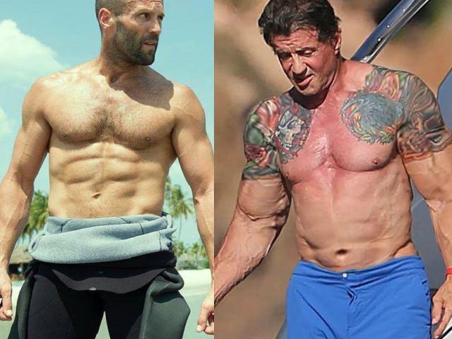 """Tiết lộ về cơ bắp đồ sộ của """"Người vận chuyển, Anh hùng Rambo"""""""