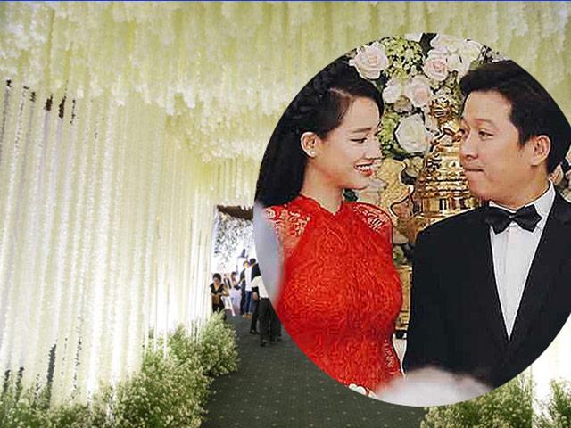 Trường Giang, Nhã Phương đãi tiệc đẹp như tiên cảnh, sao Việt đổ về dự