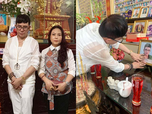 """Vợ Long Nhật làm lễ 49 ngày mất cho """"người tình tri kỷ"""" của chồng"""