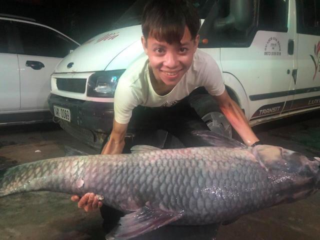 Ngư dân hồ Thác Bà phát hoảng khi đụng phải cá khủng dài 1,5m