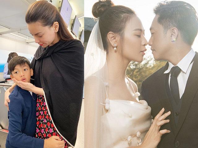 Hà Hồ tiễn con trai về dự đám cưới Cường đô la, bất ngờ tuyên bố 1 điều gây sốc