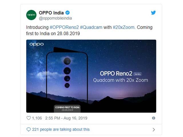 """OPPO Reno chưa hết """"hot"""", Reno2 đã sắp sửa trình làng với camera zoom 20x"""