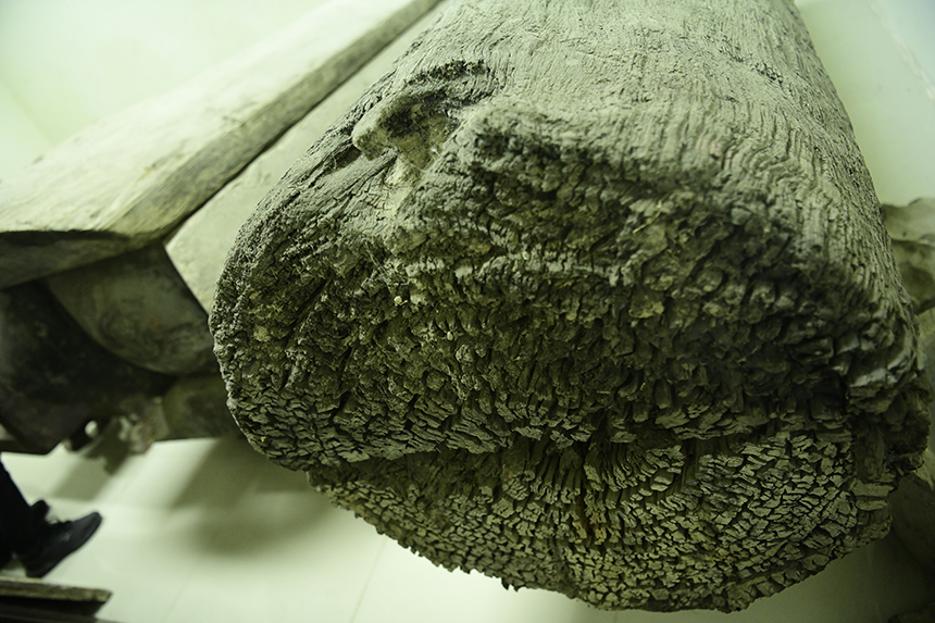 Trải qua hơn 2.000 năm, chiếc quan tài thân cây vẫn còn khá nguyên vẹn.