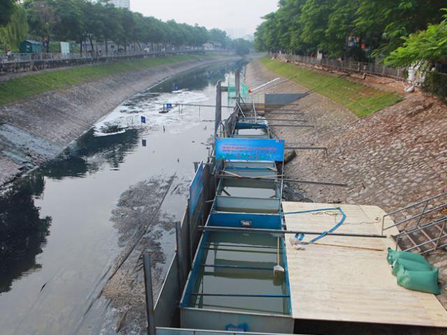 """Hết hạn 4 tháng thử nghiệm """"bảo bối"""" của Nhật, sông Tô Lịch thay đổi như thế nào?"""