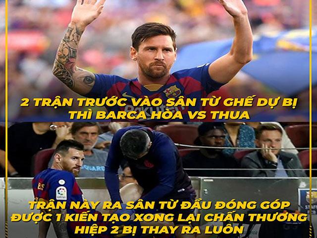 """Ảnh chế: Vừa """"ẵm"""" FIFA The Best, Messi lại phải """"nhập viện"""""""