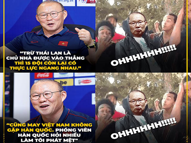 """HLV Park Hang Seo có pha """"cà khịa"""" Thái Lan cực mạnh"""