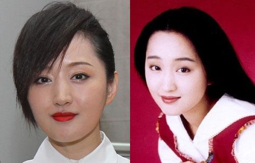 Hai bức ảnh được chụp cách nhau 20 năm, nhưng ca sĩ Dương Ngọc Oánh - mỹ nhân của làng nhạc Hong Kong vẫn không hề thay đổi.