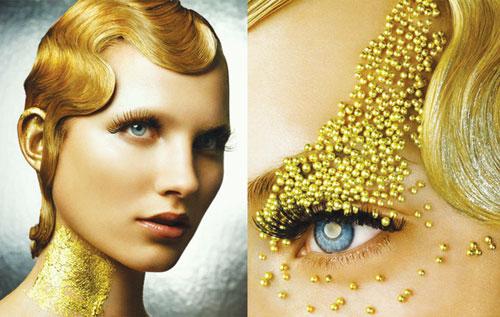 Nhuộm vàng lên tóc