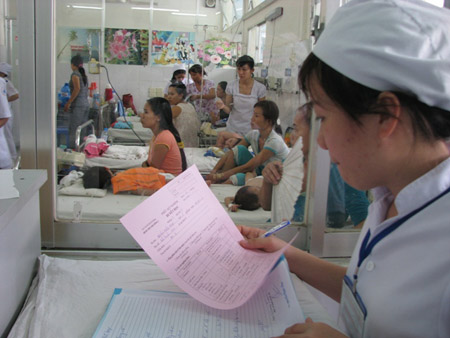 Ghi nhận các ca bệnh truyền nhiễm tại Bệnh viện Nhi Đồng 1 (TP.HCM)  - 1 trong 3 đơn vị mà TTYTDP TP.HCM chủ yếu lấy báo cáo số liệu.