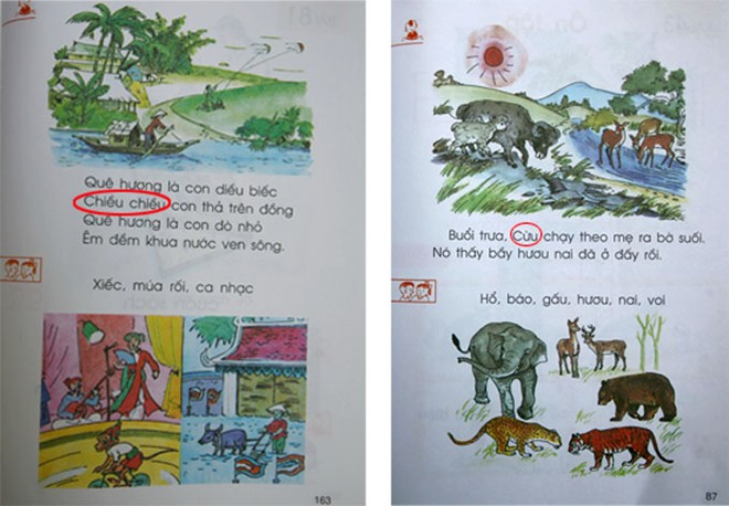 Trích dẫn không chính xác Viết hoa tùy tiện - Ảnh chụp từ sách giáo khoa Tiếng Việt lớp 1, tập 1, Nxb Giáo Dục 2003.  Bài viết: http://news.zing.vn/Loi-chinh-ta-trong-sach-giao-khoa-Tieng-Viet-lop-1-post359514.html#category  Nguồn Zing News