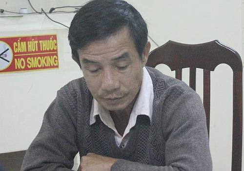 Trùm trộm cắp Nguyễn Văn Bình tại trụ sở công an.