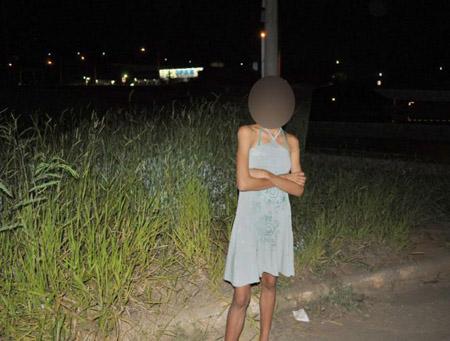 Bé Leliah, 11 tuổi đã phải đi bán dâm.