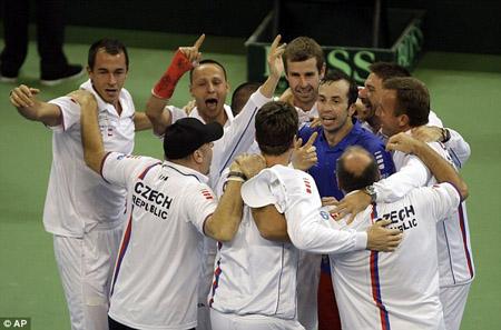 Niềm vui chiến thắng của ĐT CH Czech