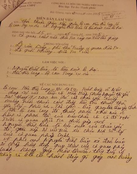Bút lục trong vụ án thể hiện việc vi phạm nghiêm trọng về mặt tố tụng